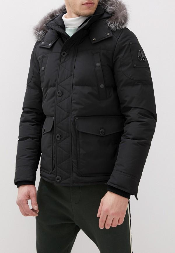 мужской пуховик moose knuckles, черный