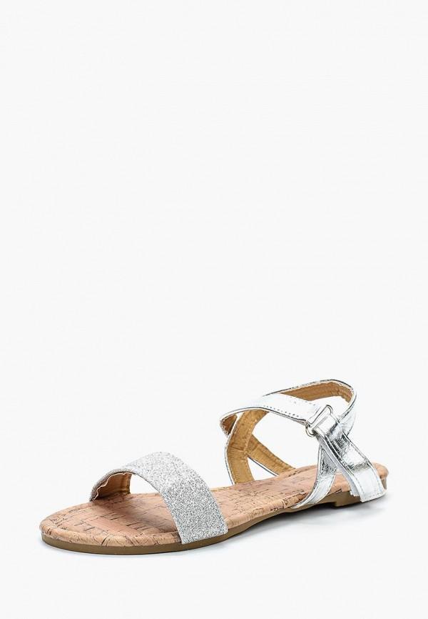 сандалии modis для девочки, серебряные