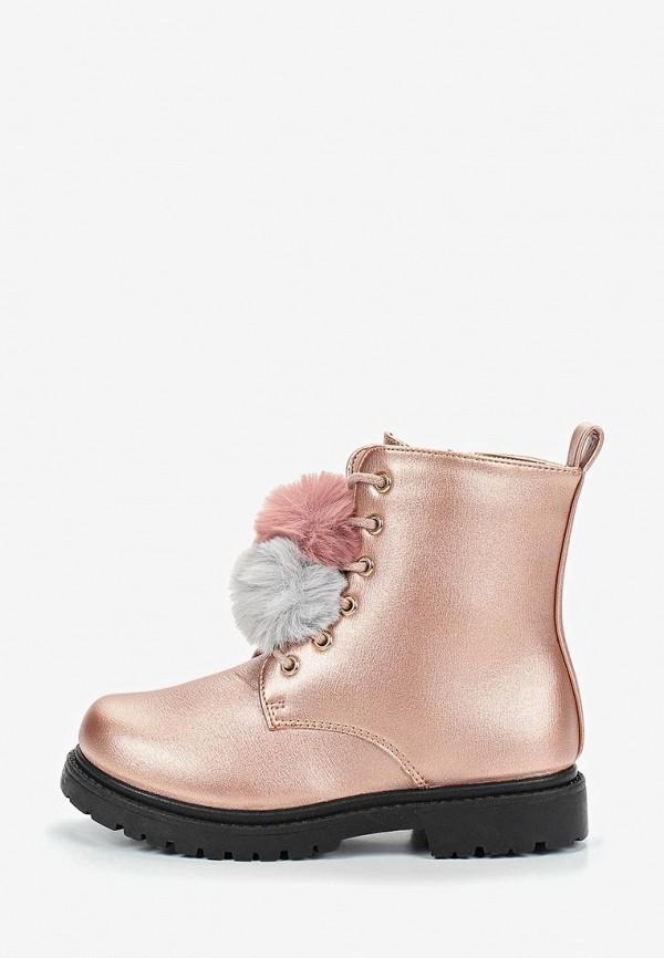 ботинки modis для девочки, розовые