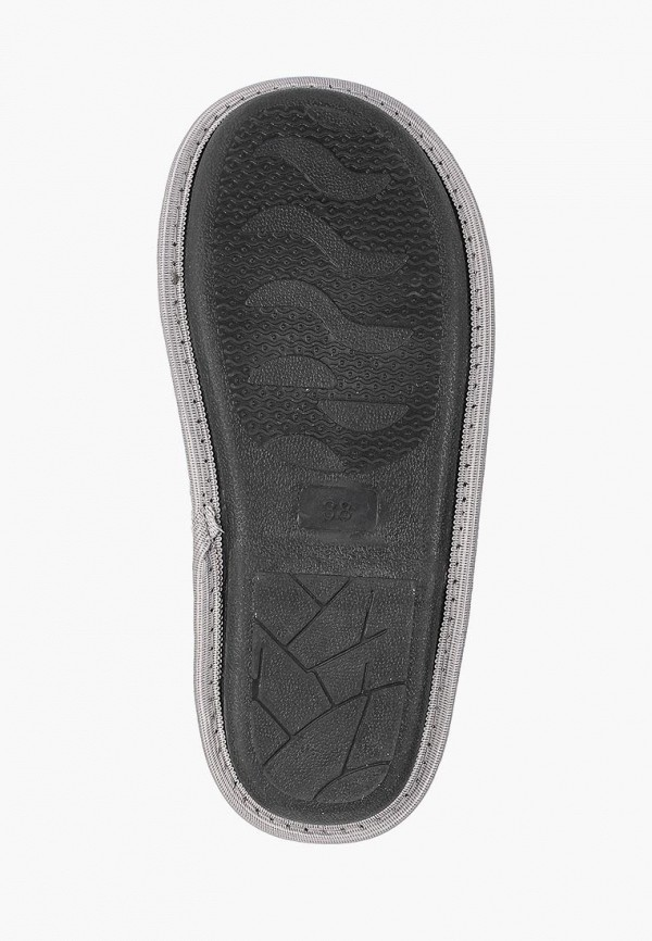Фото 5 - Тапочки Modis серого цвета