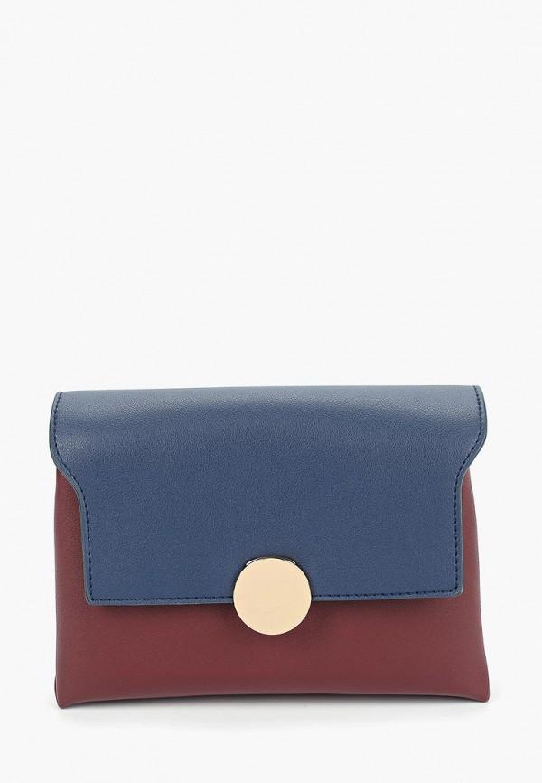 женская сумка modis, бордовая