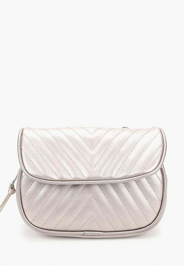 женская сумка modis, серебряная