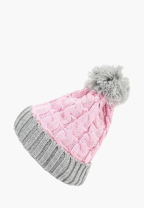 шапка modis для девочки, розовая