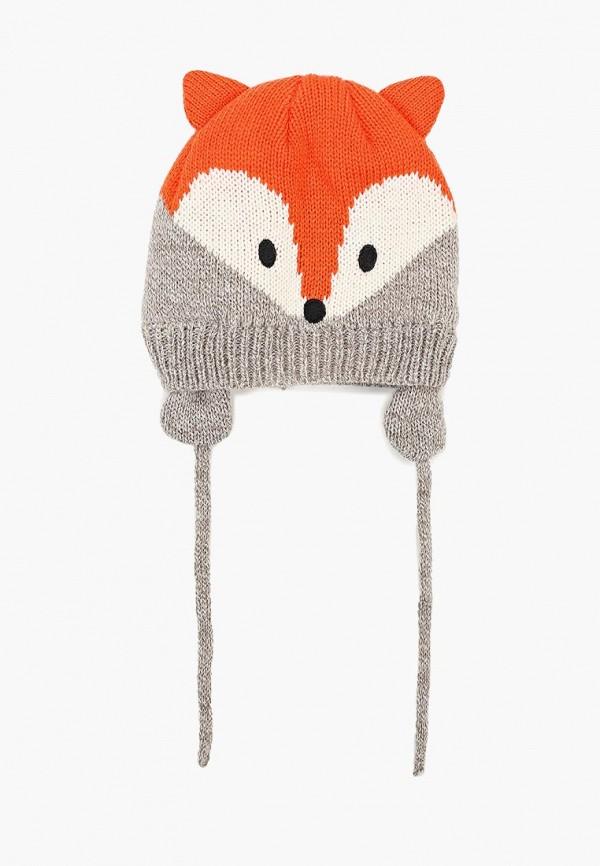 шапка modis для девочки, оранжевая