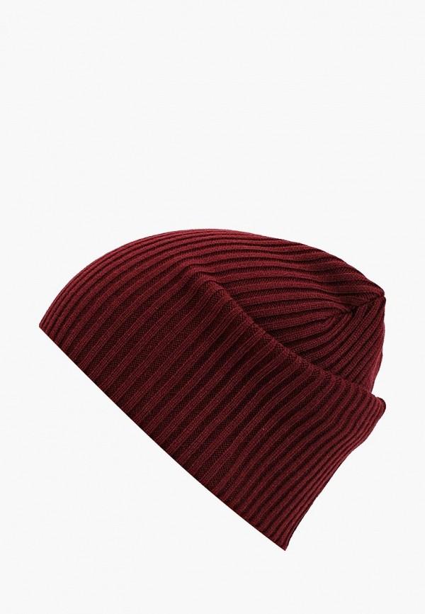 мужская шапка modis, бордовая