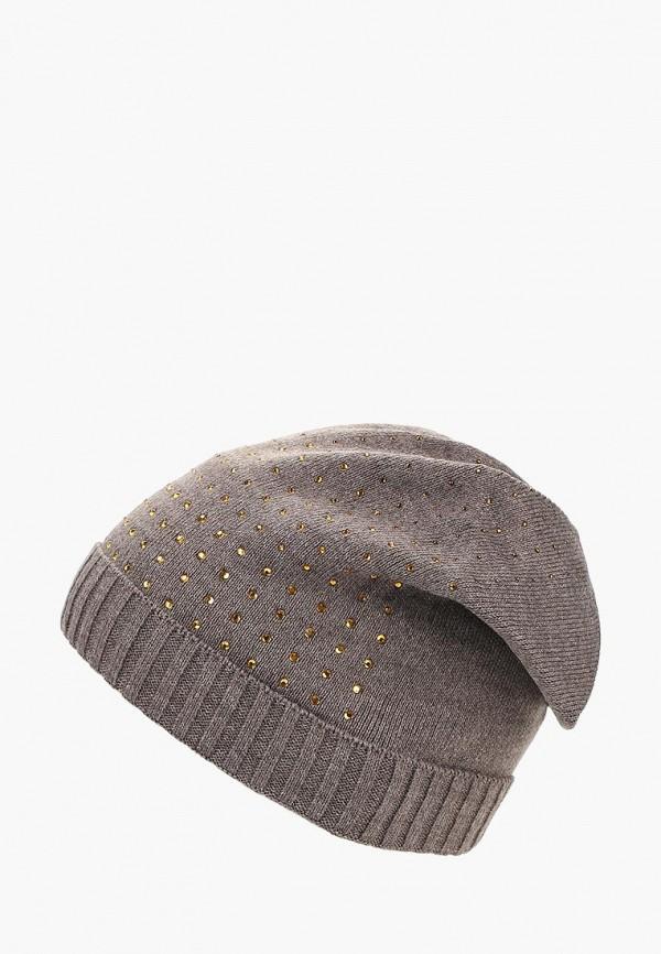 женская шапка modis, коричневая