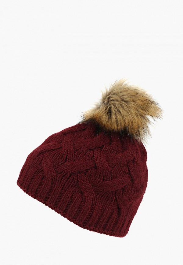 женская шапка modis, бордовая