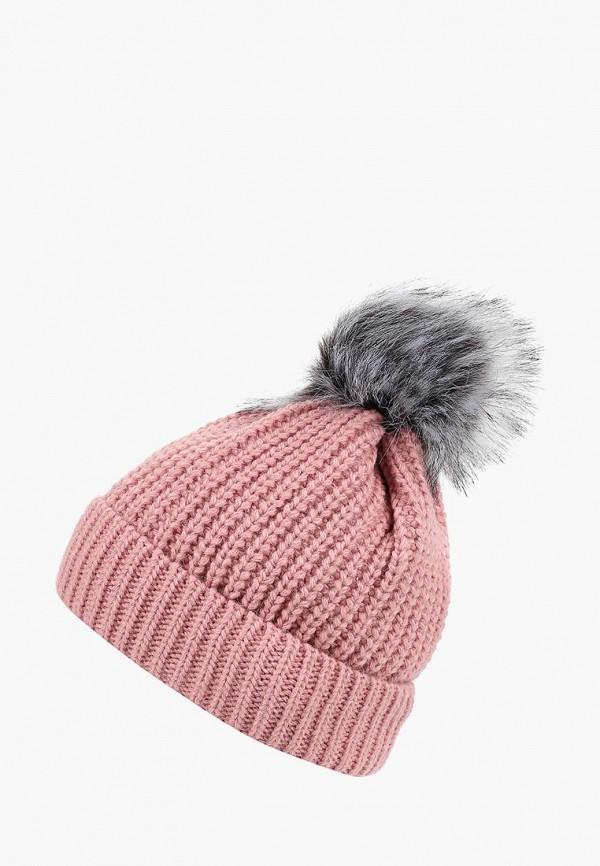 женская шапка modis, розовая