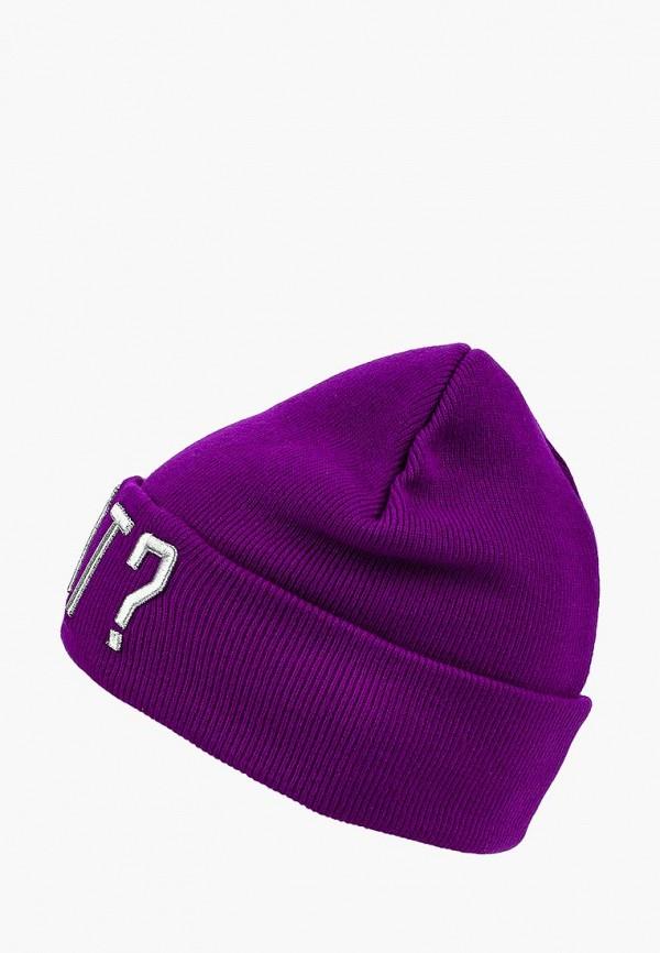 женская шапка modis, фиолетовая