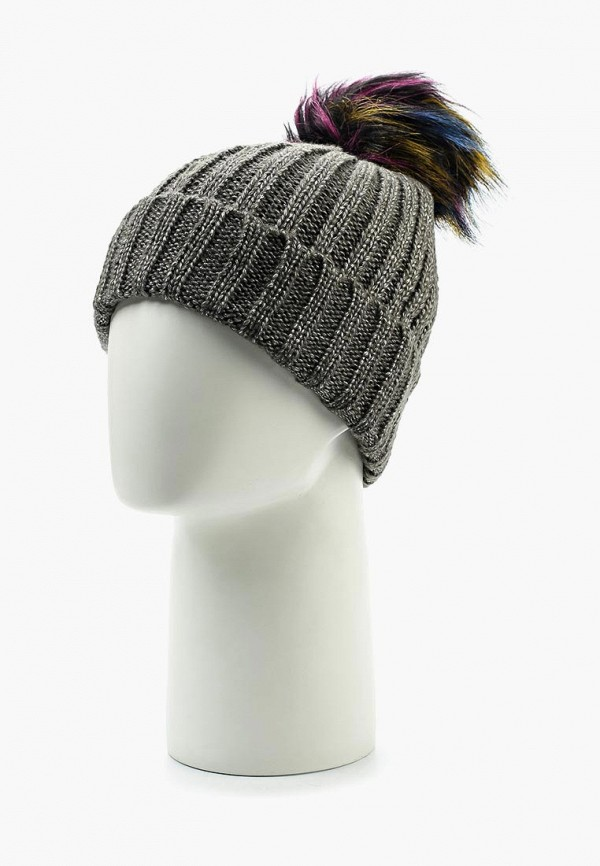 Фото 2 - женскую шапку Modis серого цвета