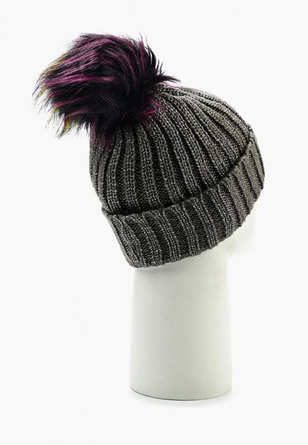 Фото 3 - женскую шапку Modis серого цвета