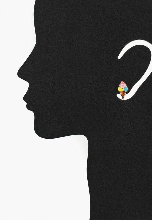 Фото 4 - женские серьги, клипсы или пирсинг Modis разноцветного цвета