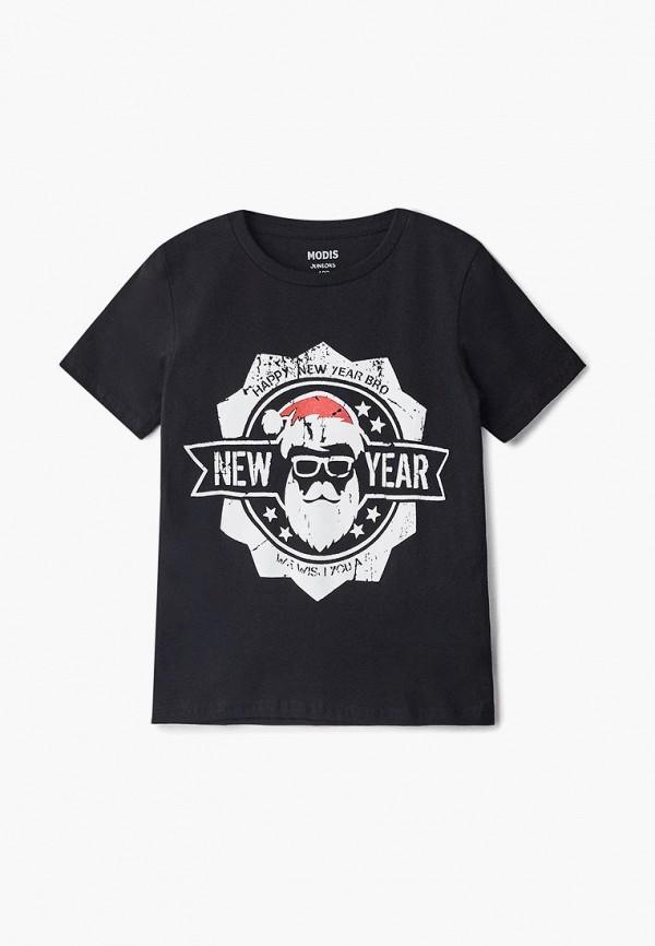 футболка с коротким рукавом modis для мальчика, черная