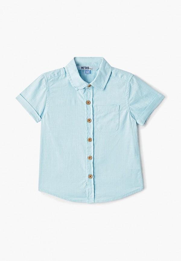 рубашка modis для мальчика, голубая