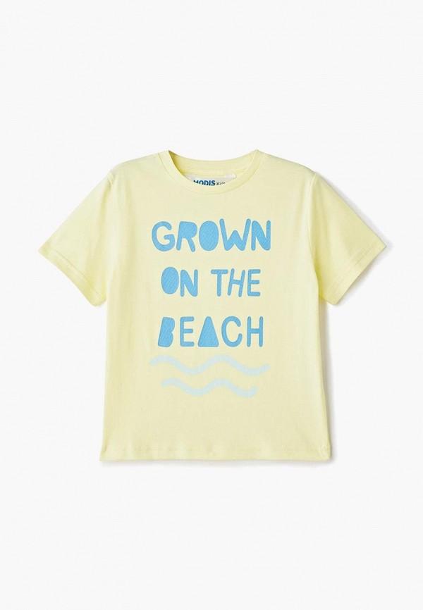 футболка с коротким рукавом modis для мальчика, желтая