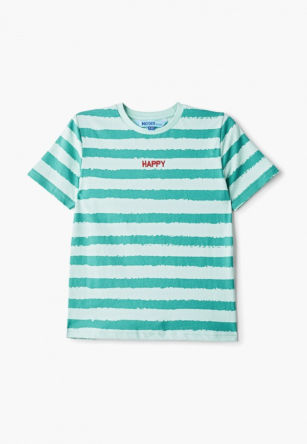 футболка с коротким рукавом modis для мальчика, зеленая