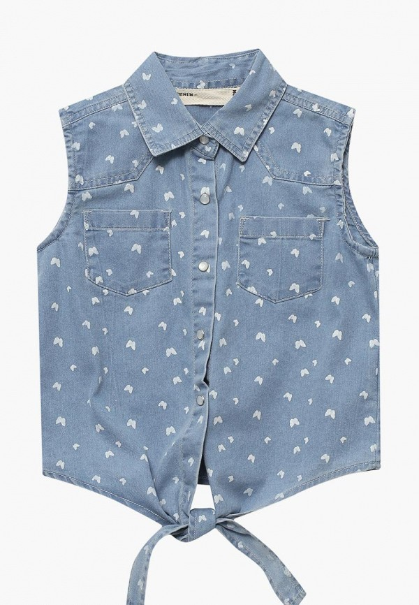Купить Рубашку джинсовая Modis синего цвета