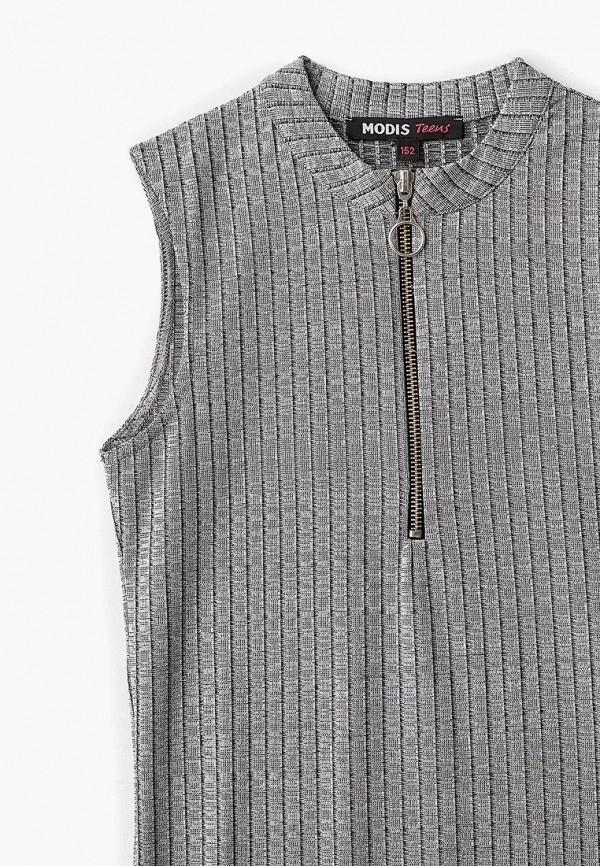 Фото 3 - Платье Modis серого цвета