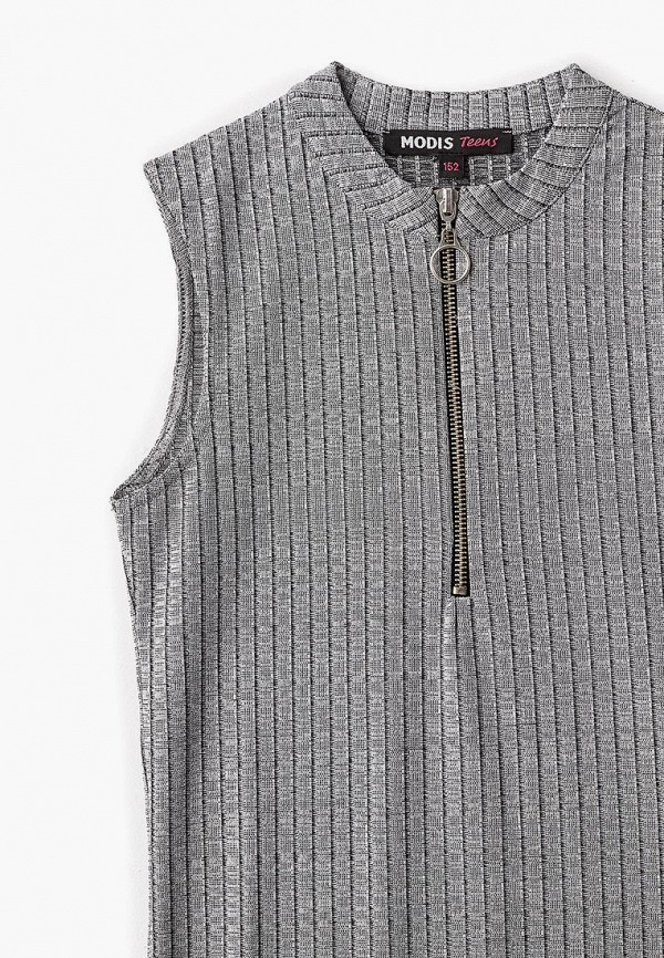 Фото 6 - Платье Modis серого цвета