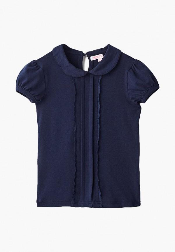 блузка modis для девочки, синяя