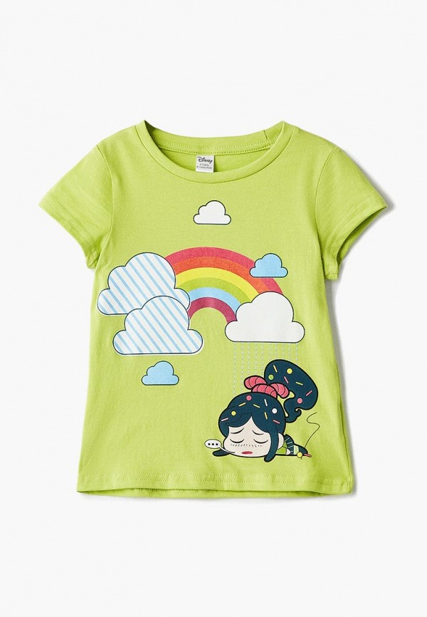 футболка с коротким рукавом modis для девочки, зеленая
