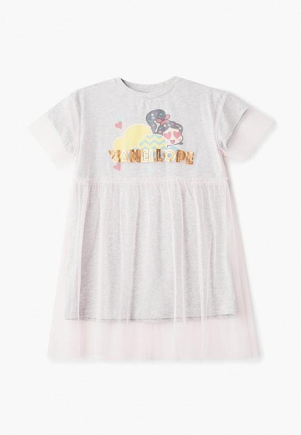 повседневные платье modis для девочки, розовое