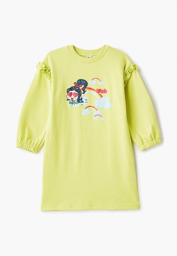 повседневные платье modis для девочки, зеленое