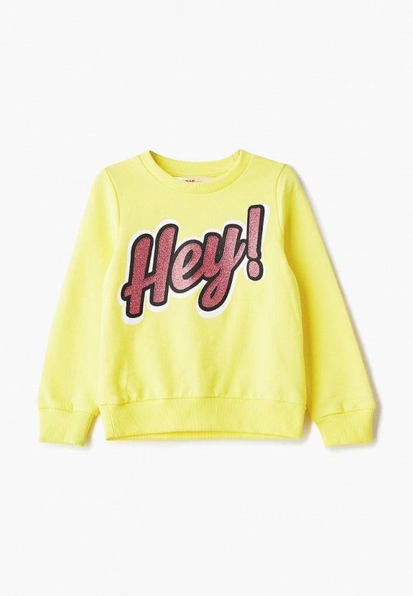 свитшот modis для девочки, желтый