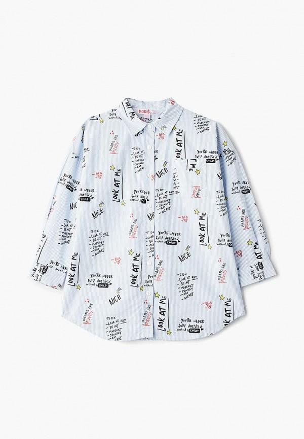 рубашка modis для девочки, голубая