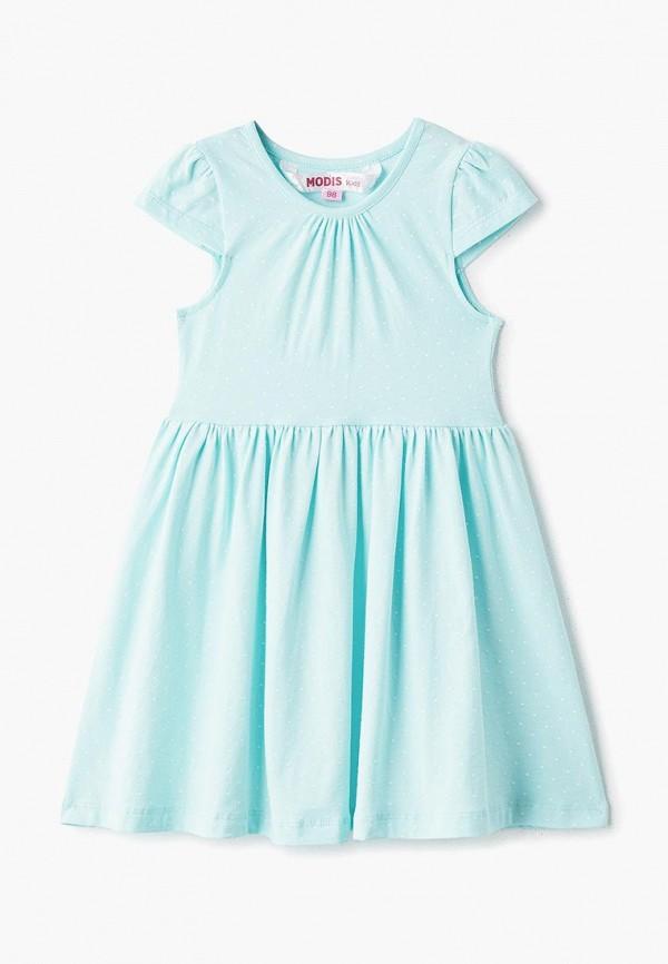 повседневные платье modis для девочки, бирюзовое