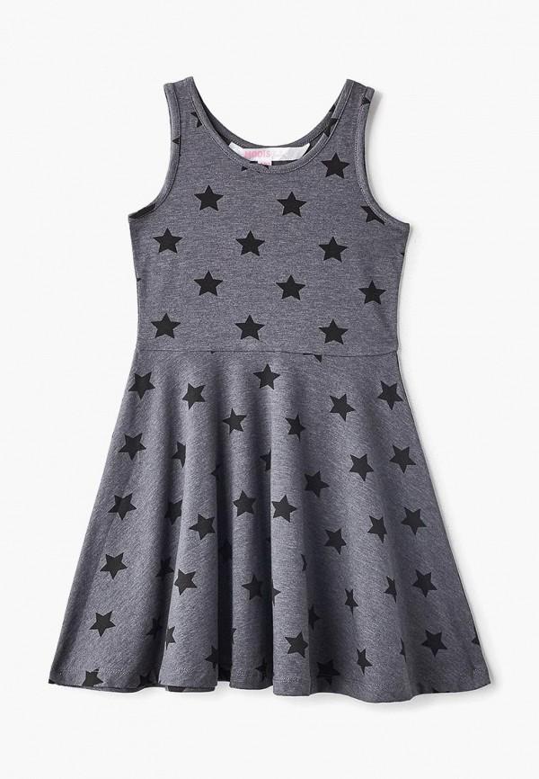 повседневные платье modis для девочки, серое