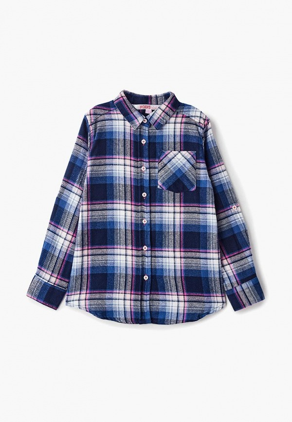 Купить Рубашка Modis, mo044egemjd4, синий, Весна-лето 2019