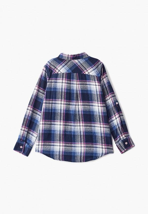 Фото 2 - блузку или рубашку для девочки Modis синего цвета