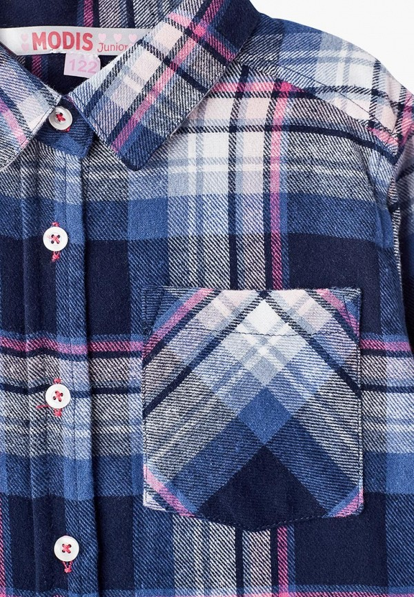 Фото 3 - блузку или рубашку для девочки Modis синего цвета