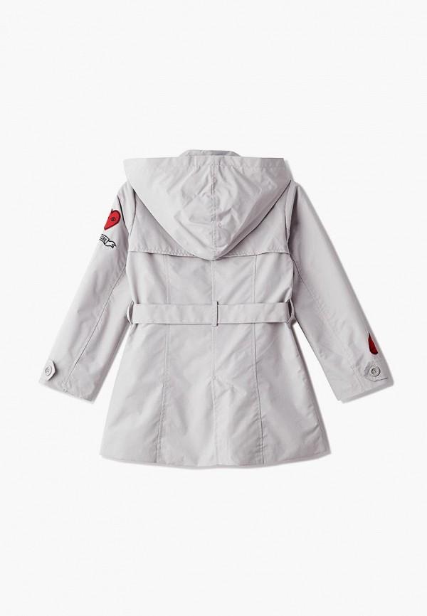 Фото 2 - пальто или плащ для девочки Modis серого цвета