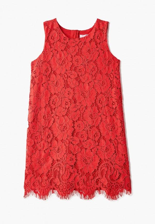 повседневные платье modis для девочки, красное