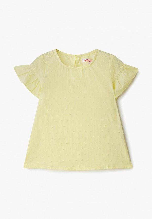 блузка modis для девочки, желтая