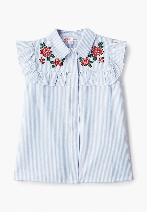 блузка modis для девочки, голубая