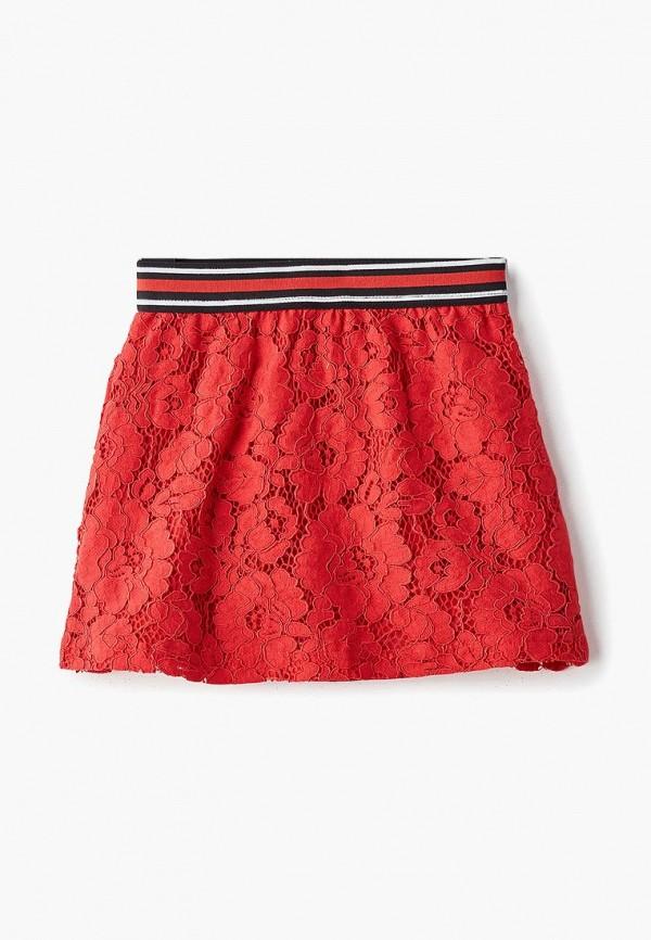 юбка modis для девочки, красная