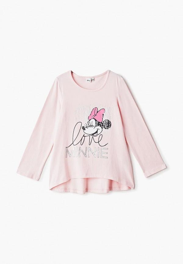 лонгслив modis для девочки, розовый