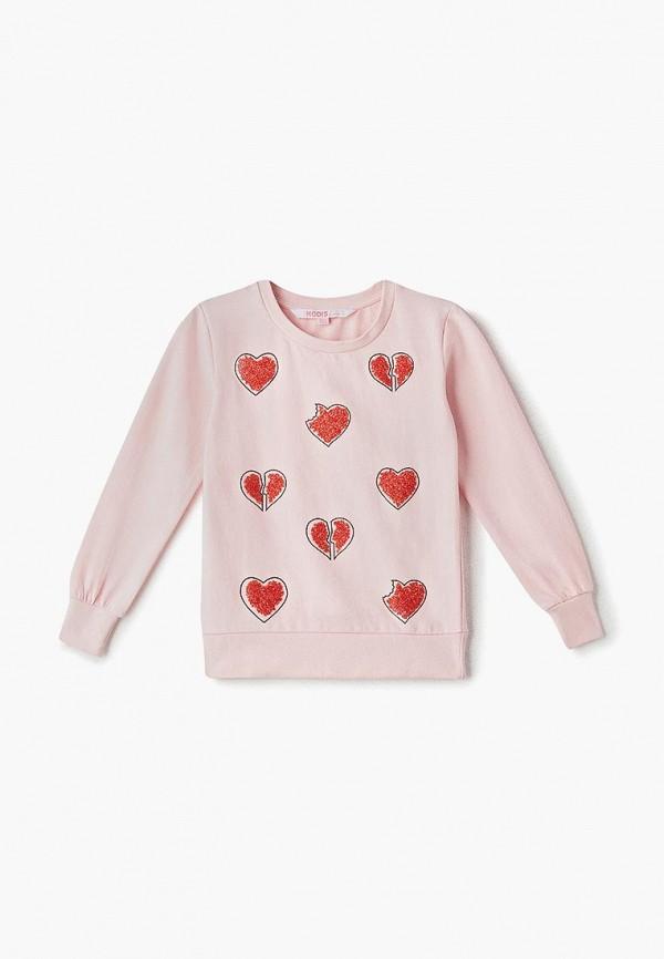 свитшот modis для девочки, розовый