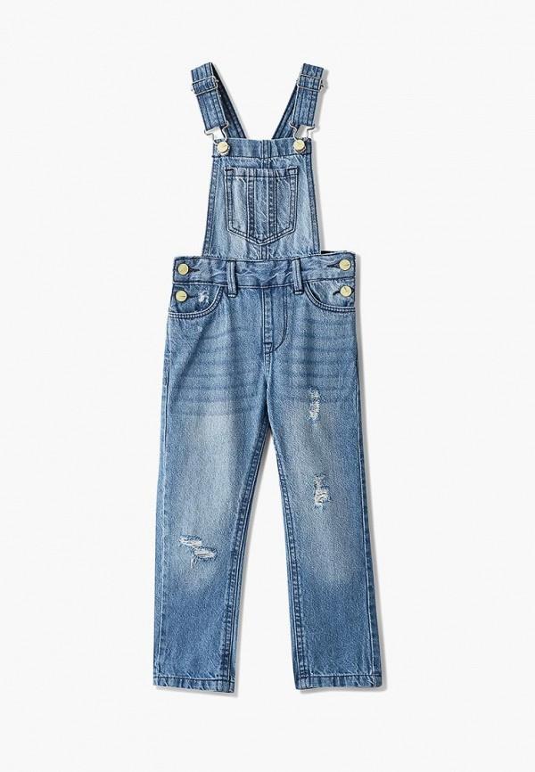 джинсовые комбинезон modis для девочки, голубой