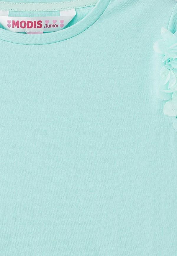 Фото 3 - Футболку Modis бирюзового цвета