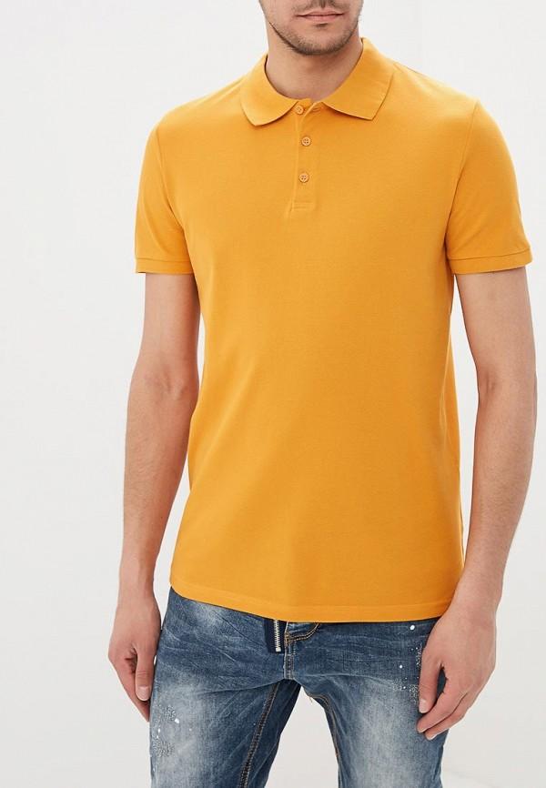 мужское поло modis, желтое