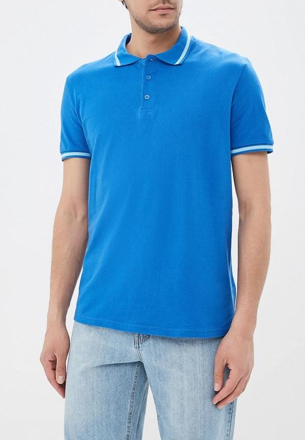 мужское поло modis, голубое