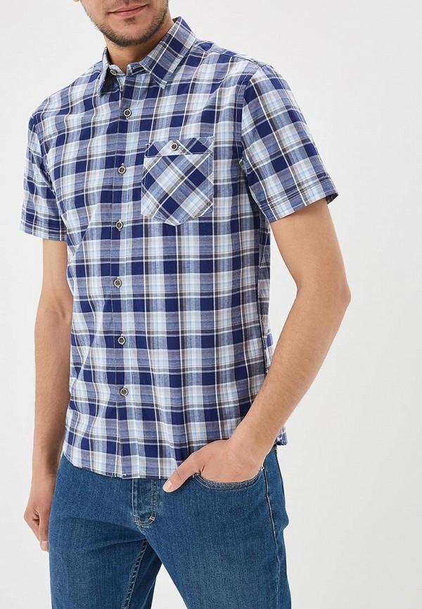 мужская рубашка с коротким рукавом modis, синяя
