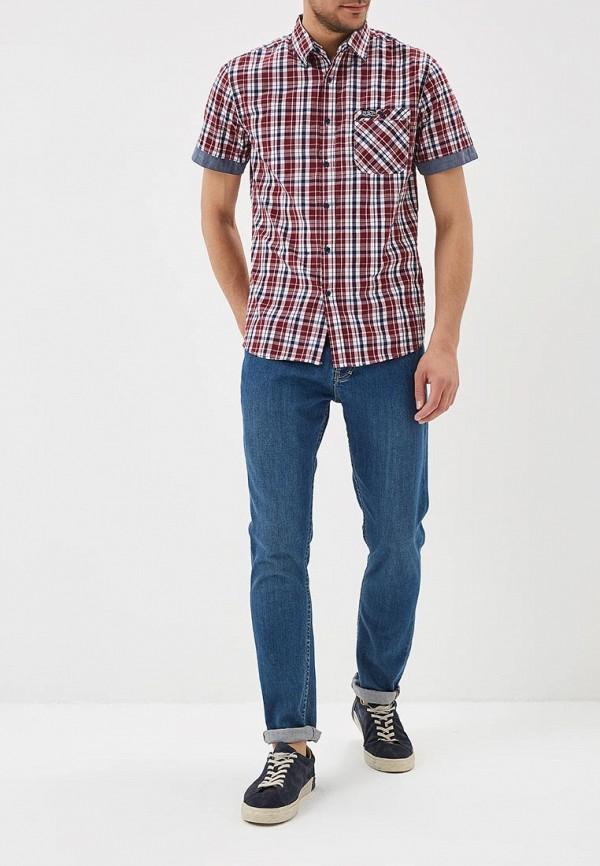 Фото 2 - мужскую рубашку Modis красного цвета