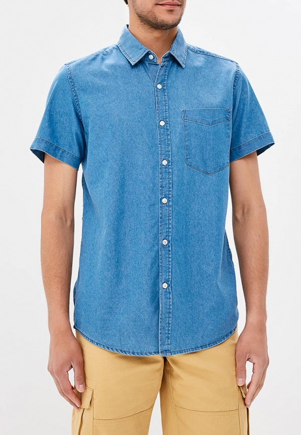 Фото - мужскую рубашку Modis синего цвета