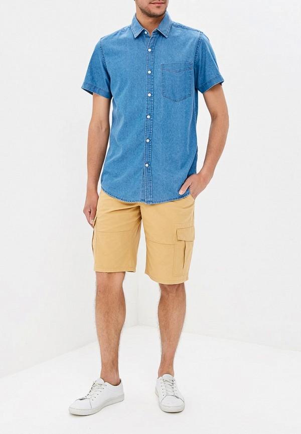 Фото 2 - мужскую рубашку Modis синего цвета