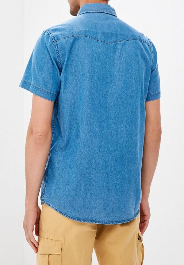 Фото 3 - мужскую рубашку Modis синего цвета